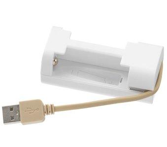 Oplader AA en AAA accu, USB aansluiting