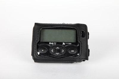 300.015 Nylon holster voor Birdy,Swissphone RES.Q, vaste metalen clip